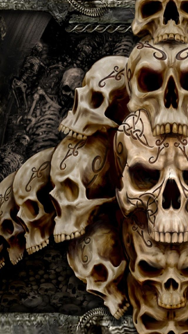 Skulls Designed iPhone 5 Wallpapers Skull, Skull design