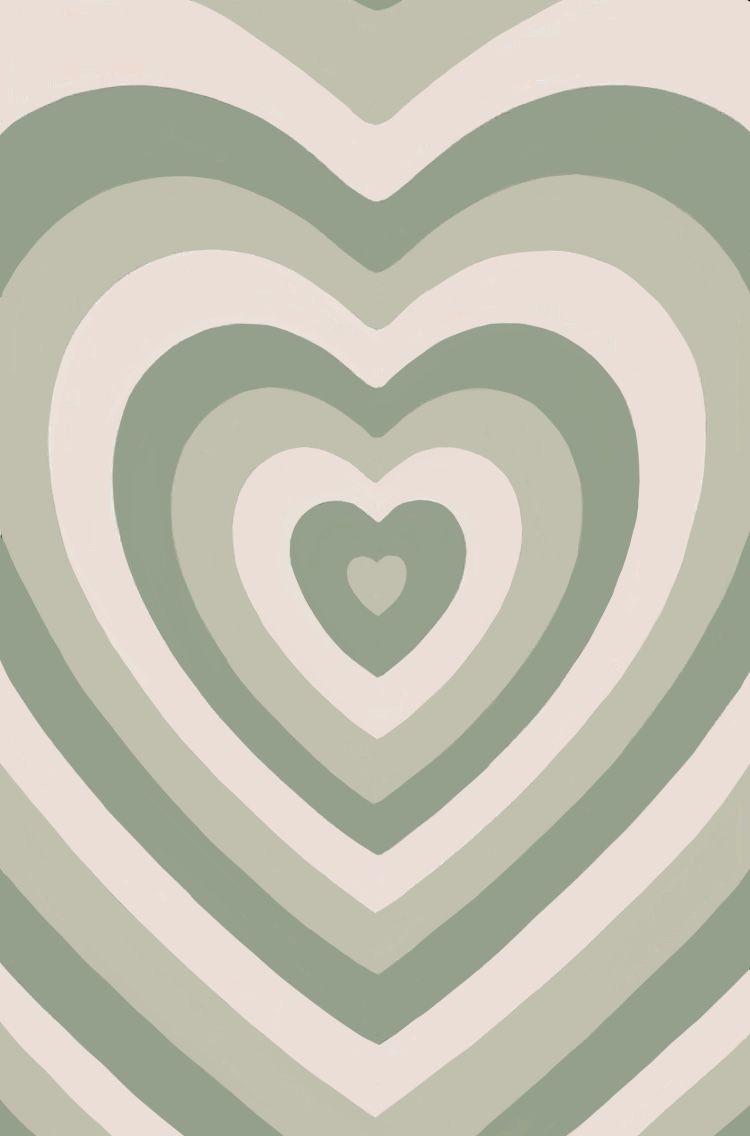 Sage Green Heart Indie Wallpaper In 2021 Phone Wallpaper Patterns Iphone Wallpaper Pattern Iphone Wallpaper Girly