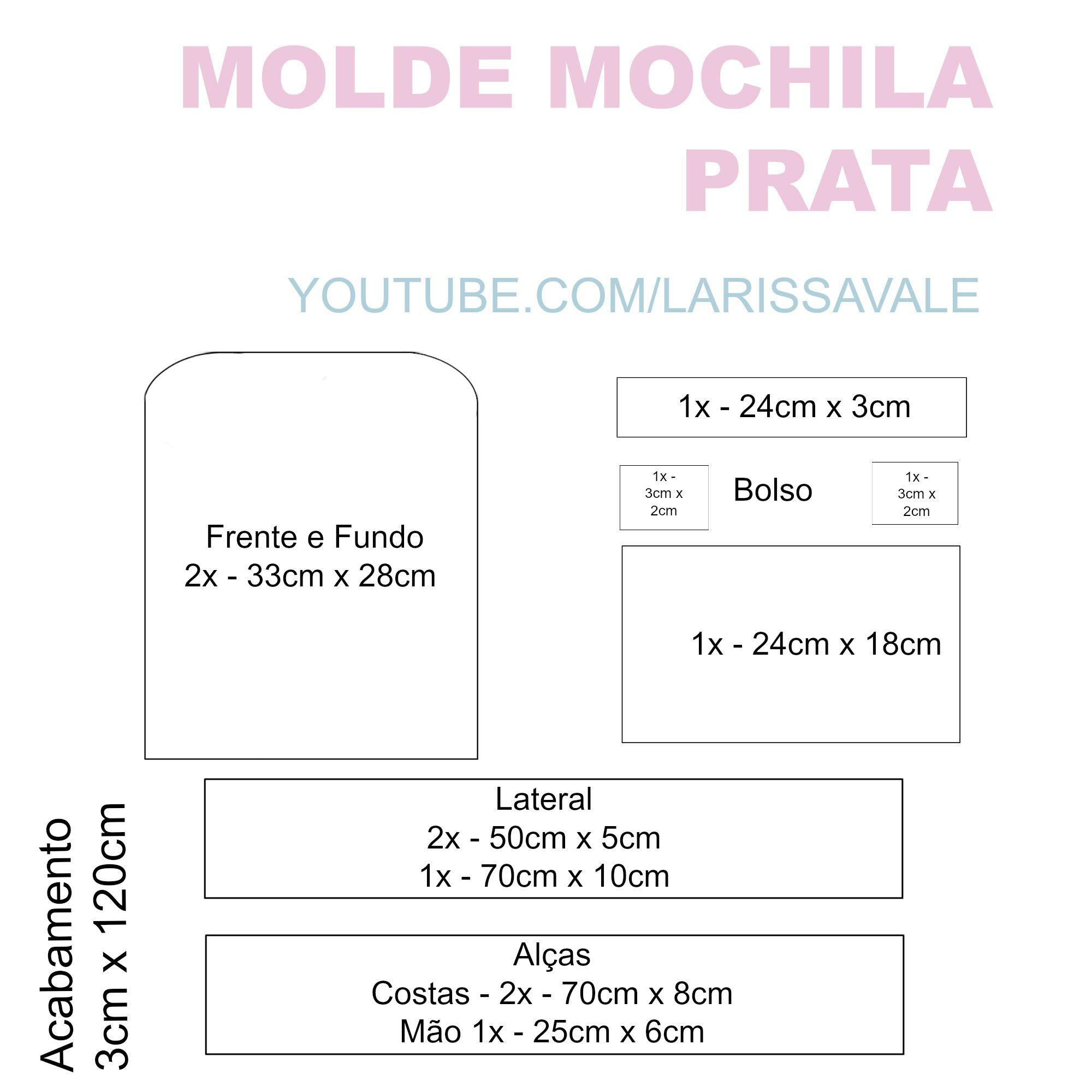 DIY – Como Fazer Mochila Prateada Fácil | loli | Pinterest | Moldes ...