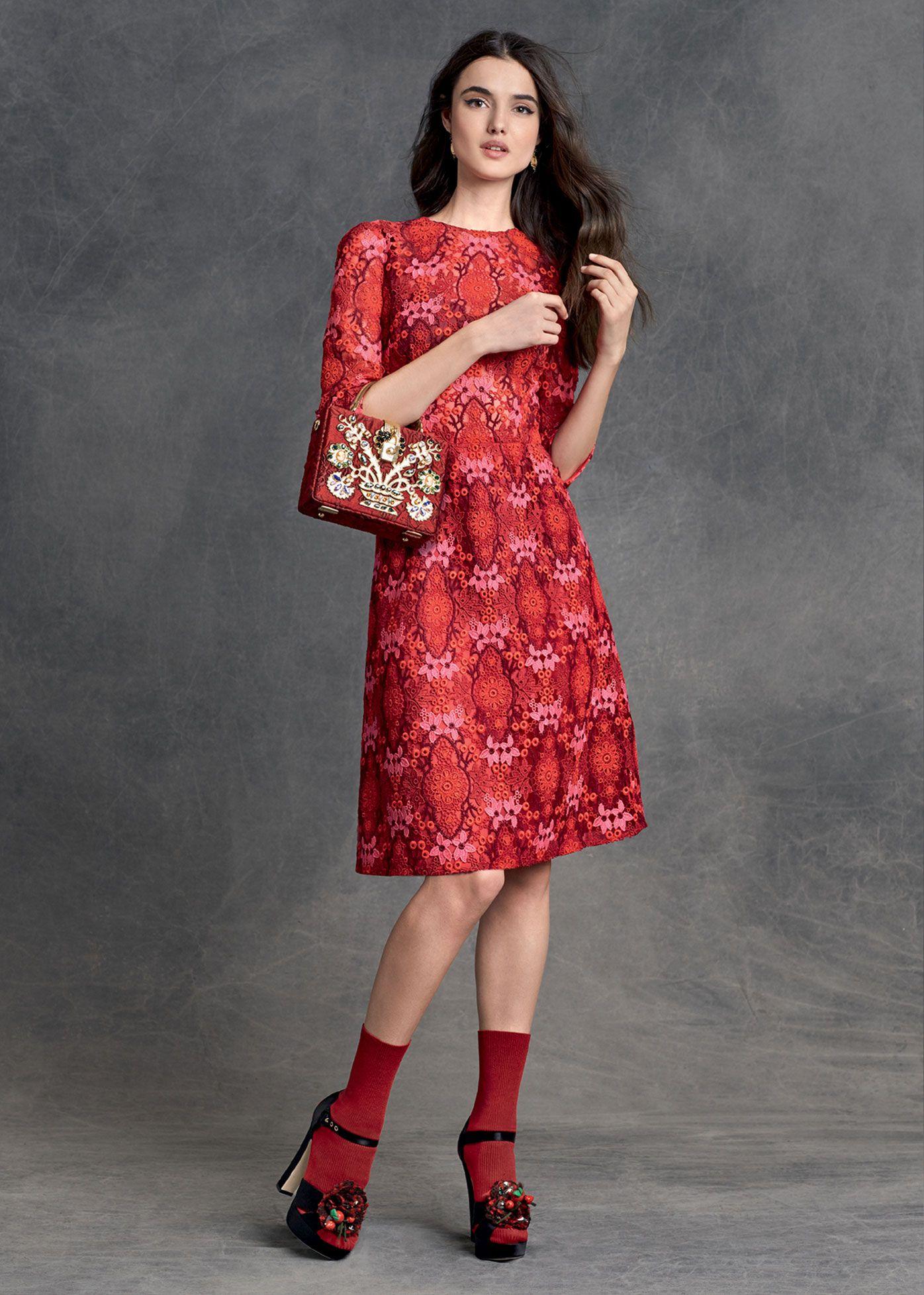 7a65cae215f3 Dolce   Gabbana Abbigliamento Donna Inverno 2016 Abito Elegante
