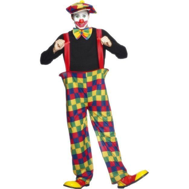 Men\u0027s Hooped Clown Costume Costumes