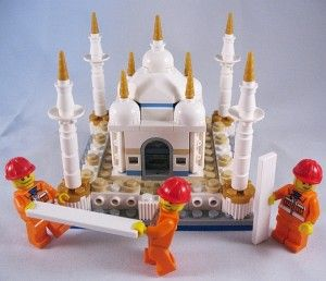 LEGO Mini Taj Mahal Scale