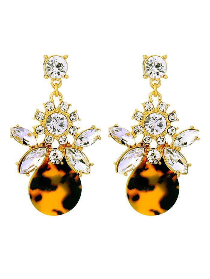 Leopard Print Rhinestone Earrings #men, #hats, #watches, #belts, #fashion, #style
