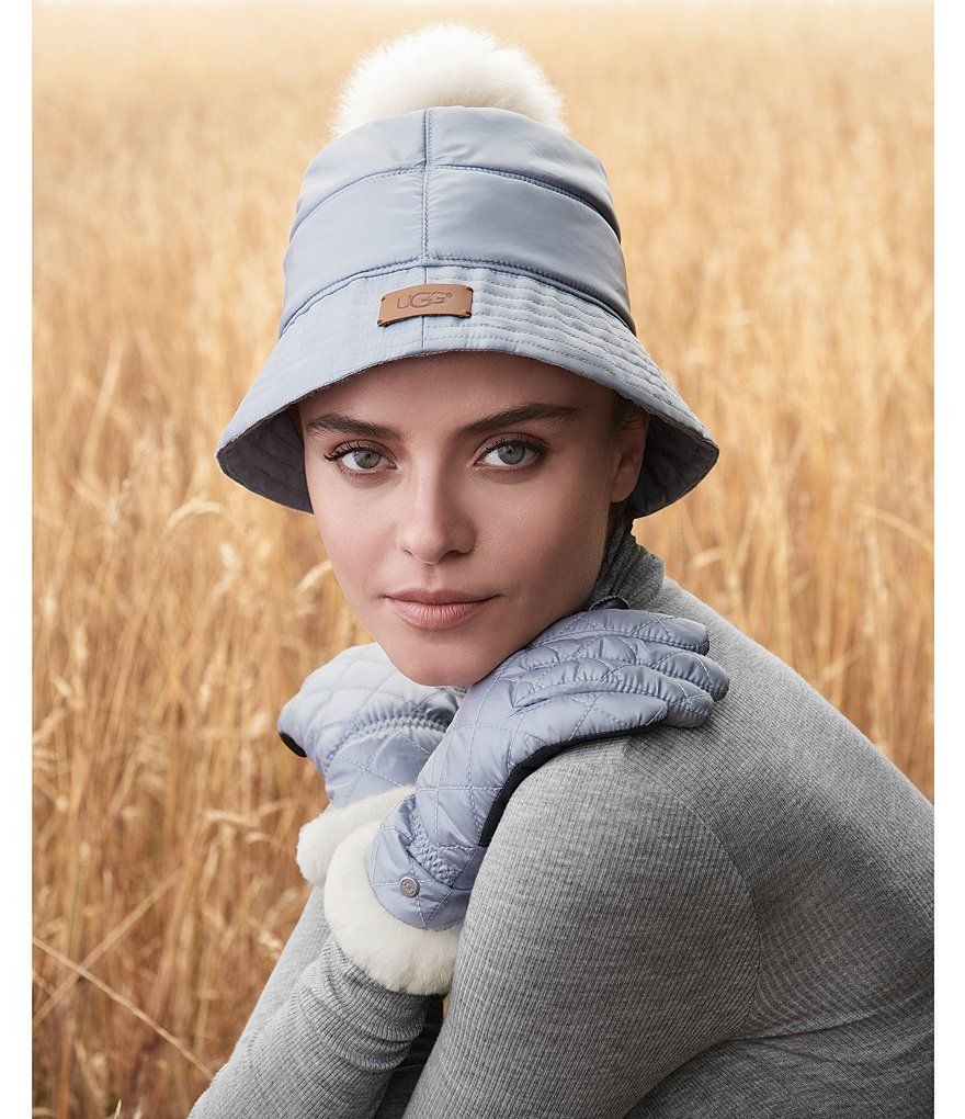UGG® Ladies  All Weather Bucket Hat with Pom Bucket Hat b1115ff159b