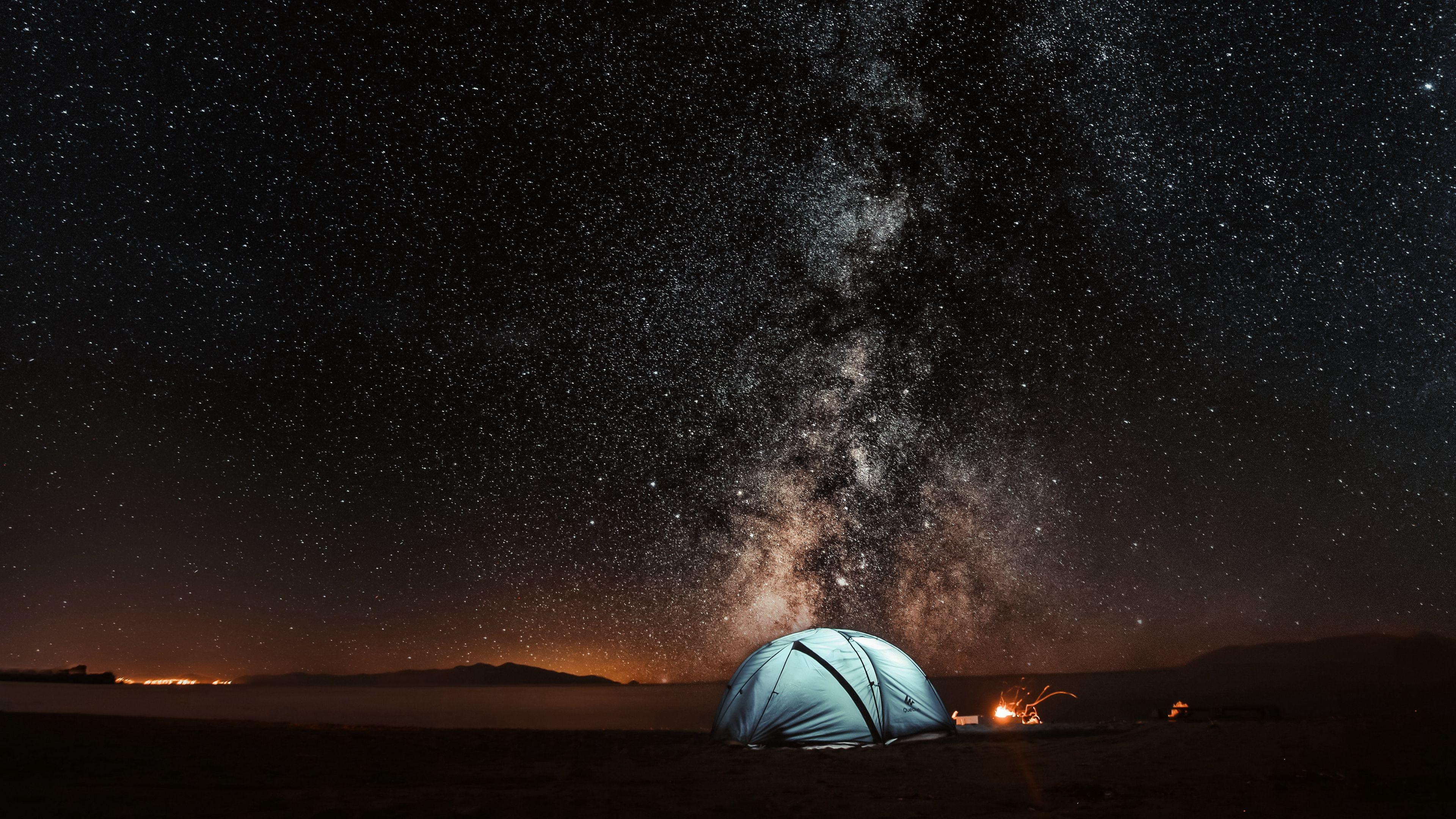 Tent Starry Sky 4k Wallpaper Sky Wallpaper Night Sky Wallpaper Uhd Wallpaper