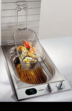 Built In Counter Deep Fryer Ideas Kitchen Cool