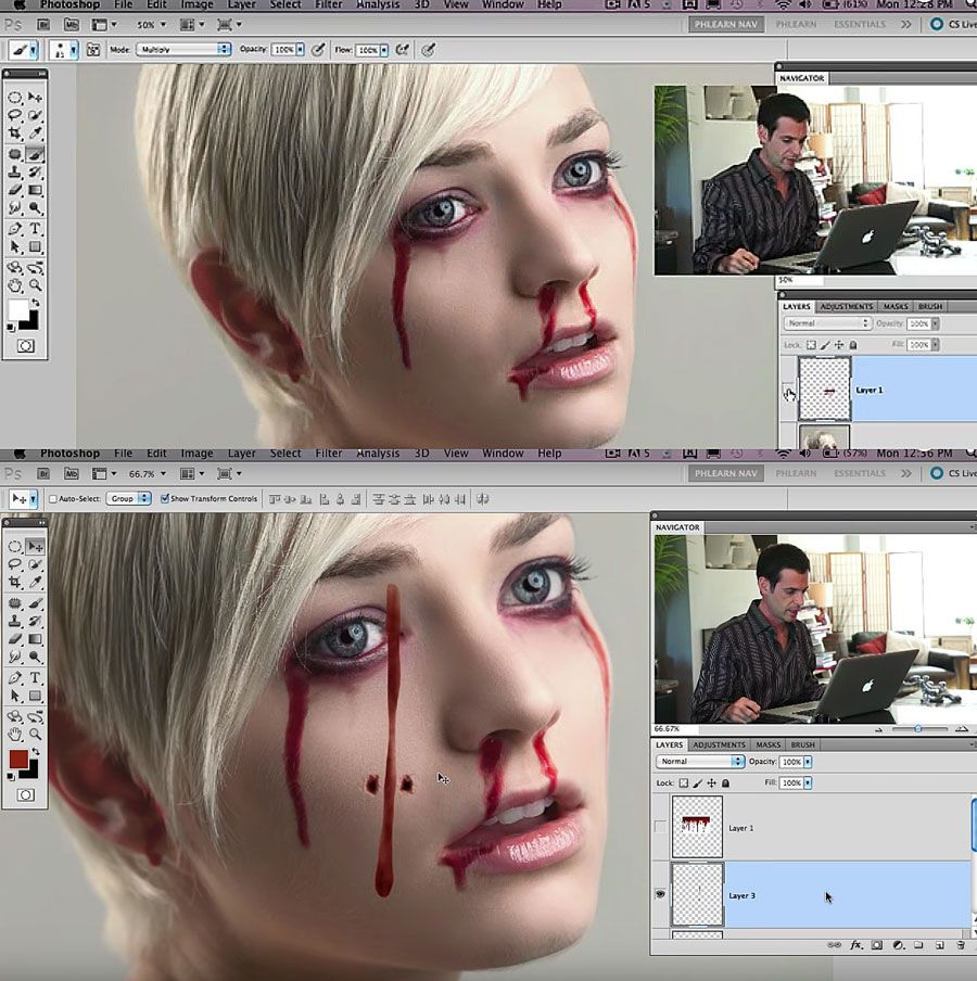 How to make fake blood in photoshop halloween is just how to make fake blood in photoshop is just around the corner so this edition of photoshop madness features some video tutorials on halloween stuff in baditri Images