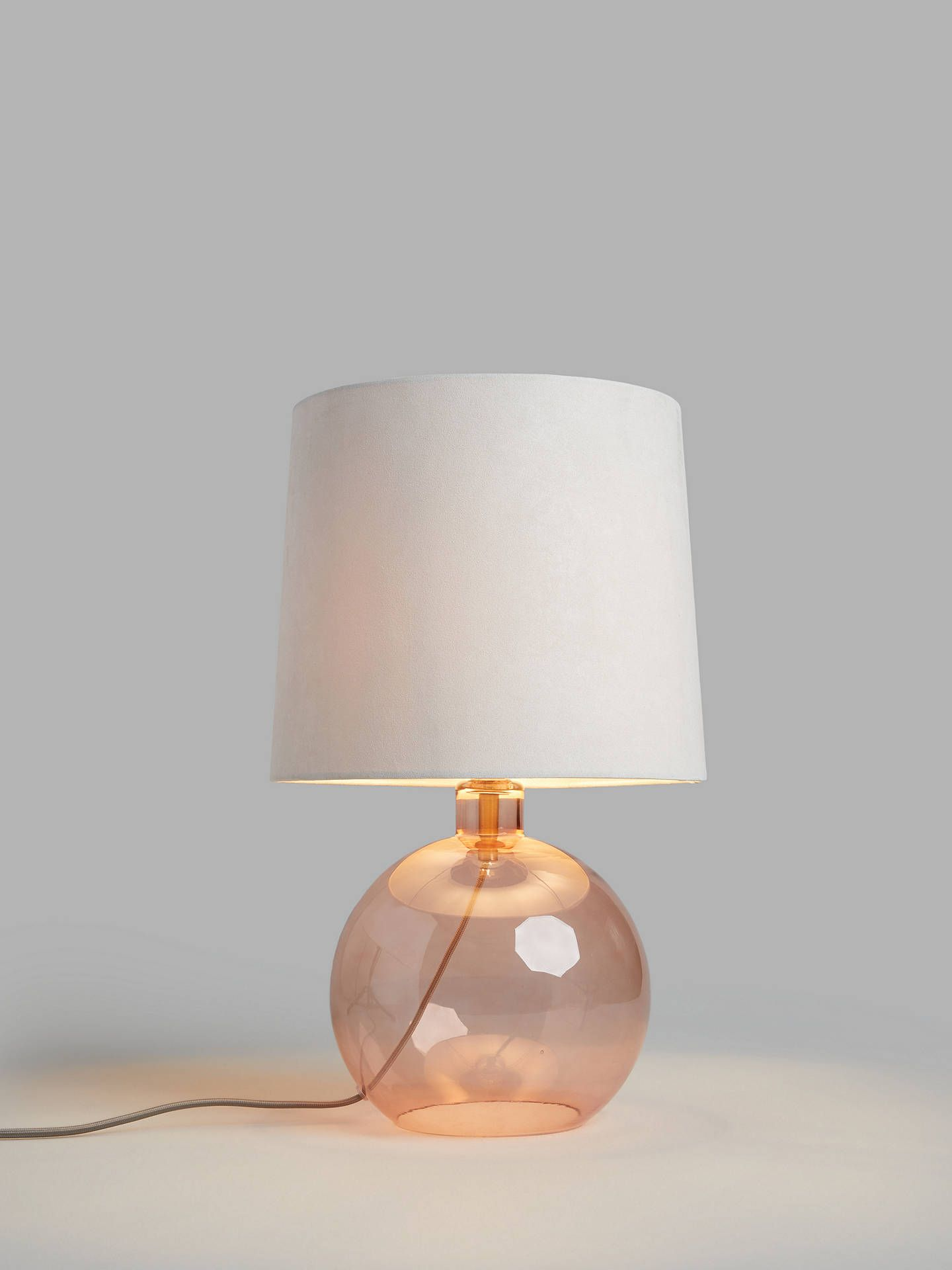 John Lewis Partners Eclipse Glass Table Lamp Black Glass Table Lamp Glass Table Table Lamp