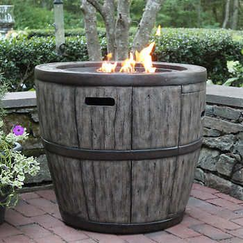 Wine Barrel Fire Table Costco One Day Outdoor Fire Pit Table