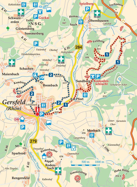 rhön karte deutschland Rhön Rundweg 2 Gersfeld Karte | Wohnmobil touren, Radtouren, Ausflug