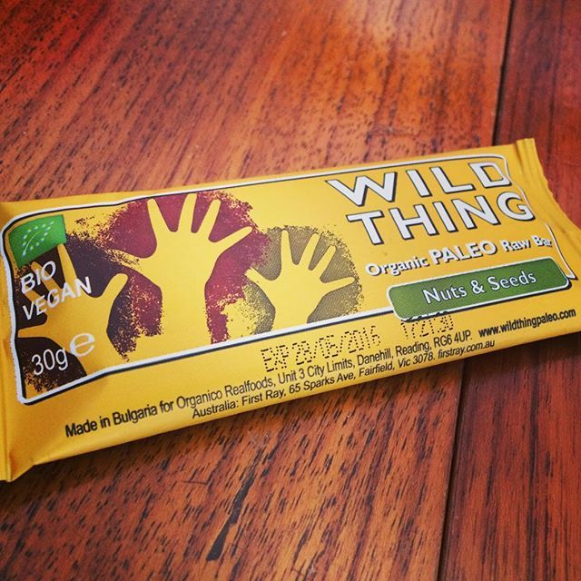 Love love this... Lovely recommendation from @fruitbatjuicebar the @wildthingpaleo nuts and seeds organic paleo bar #vegan and #glutenfree #paleo #wildthing #eatclean #eathealthy #fitfam #fitspo #fitfood #follow #instafit #instapic #instafood