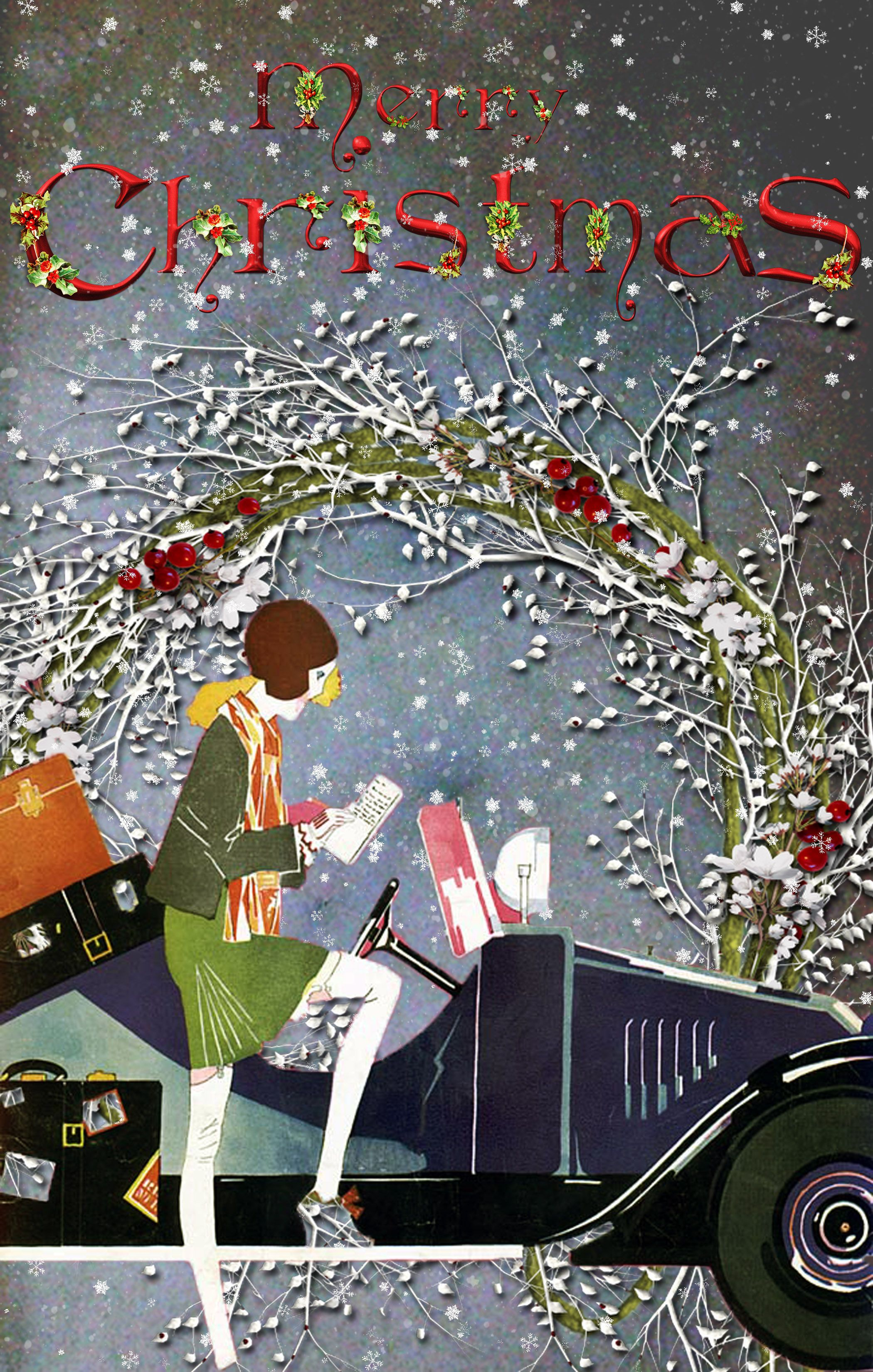 Stunning vintage Christmas Cards. customizable also