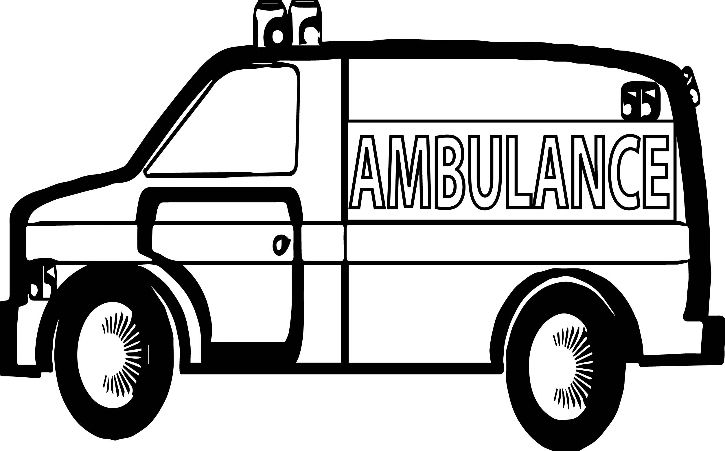 Lego ambulance car coloring page for kids, printable free