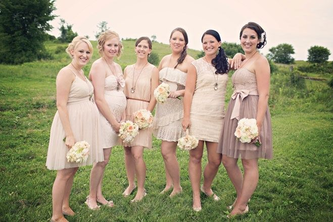 Neutral Bridesmaid Cream Dressescream Bridesmaidswedding