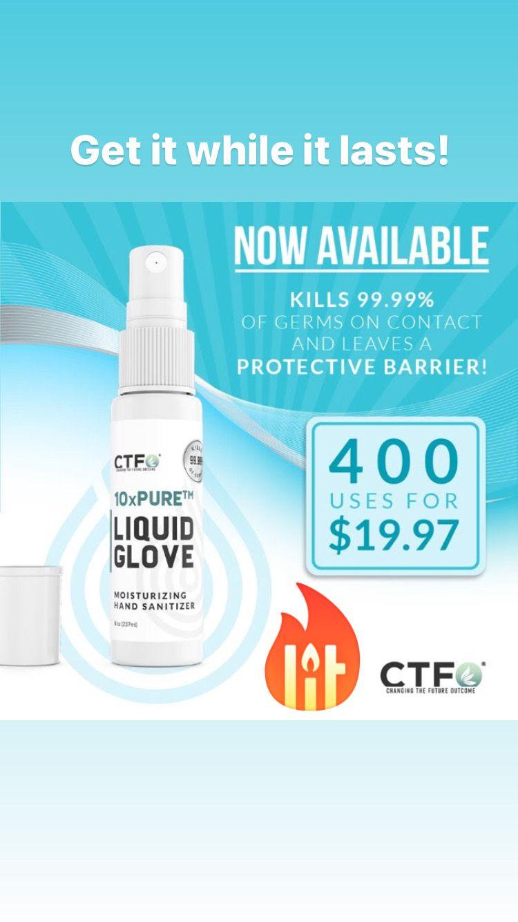 Ctfo 10xpure liquid glove moisturizing hand sanitizer