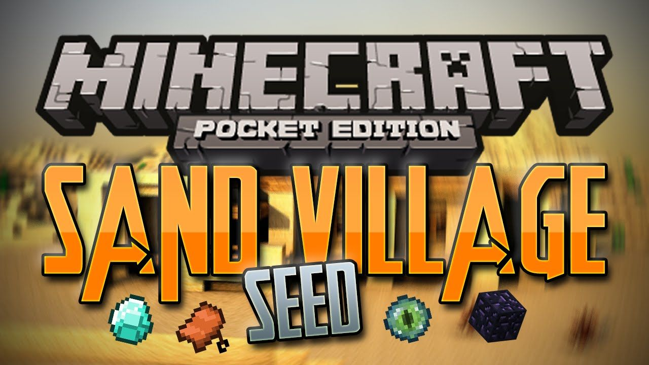 AMAZING Sand Village SEED for Minecraft PE! This mcpe seed has a