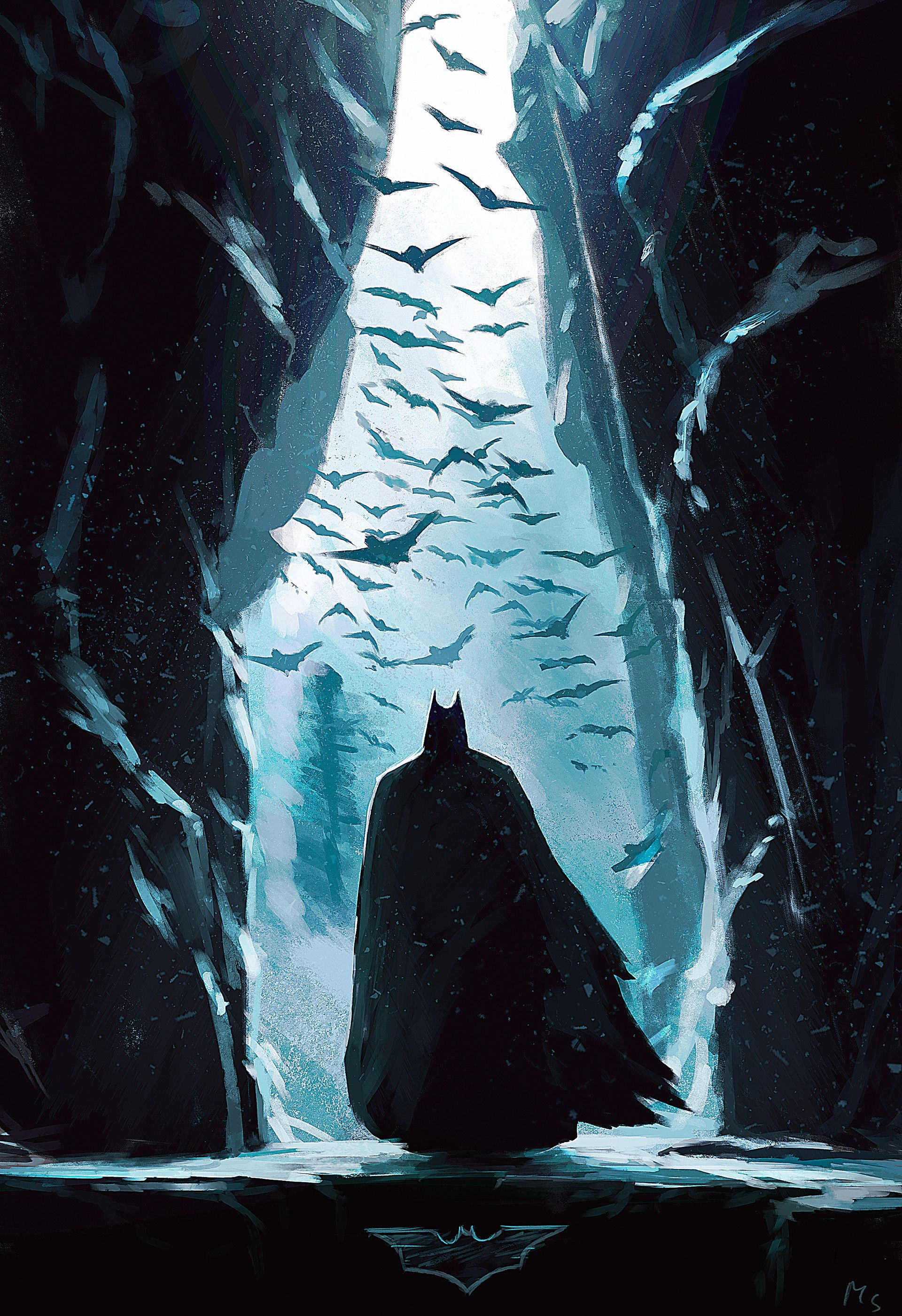 Artstation Bat Cave Mathieu Seveno Batman Painting