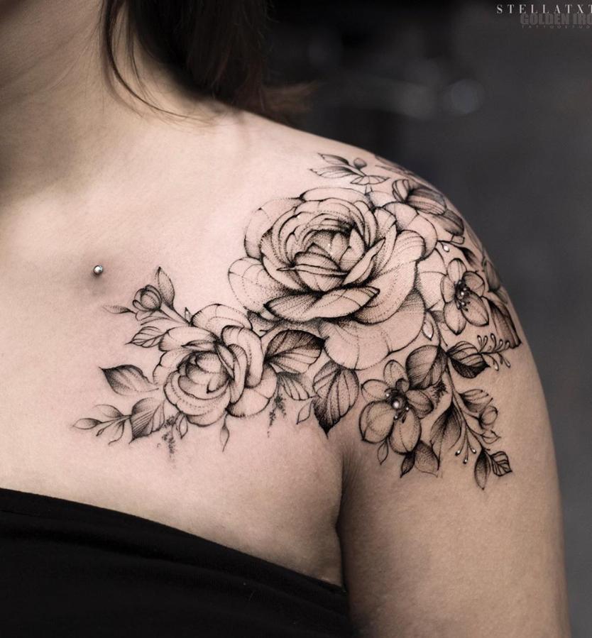 Tattooideas Besttattoomodels In 2020 Floral Tattoo Shoulder Shoulder Tattoo Shoulder Tattoos For Women