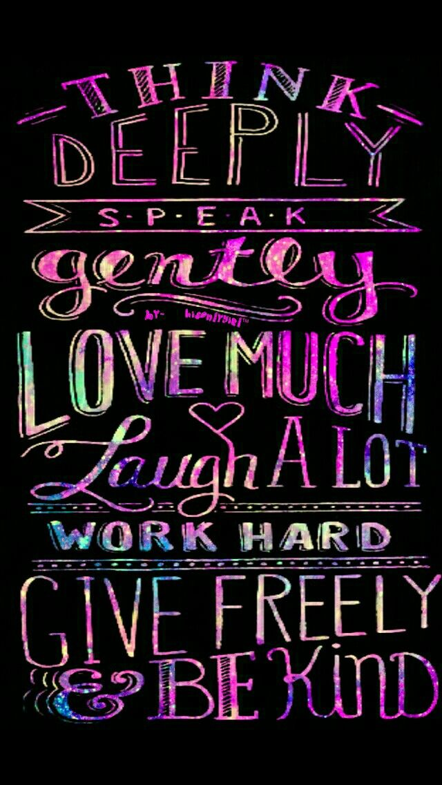 Cocoppa Wallpapers Girl Words To Live By Galaxy Wallpaper I Made For The App