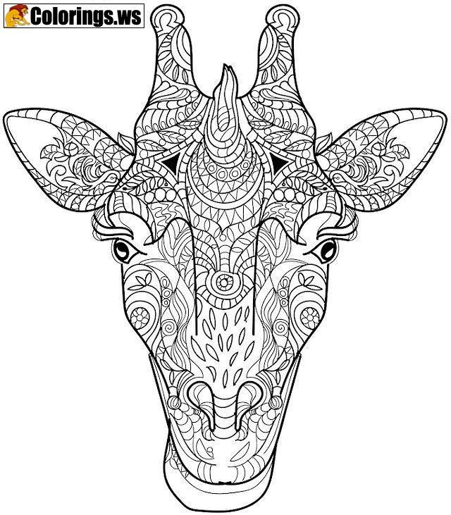 Giraffe Animal Mandala Coloring Pages Mandala Coloring Pages As
