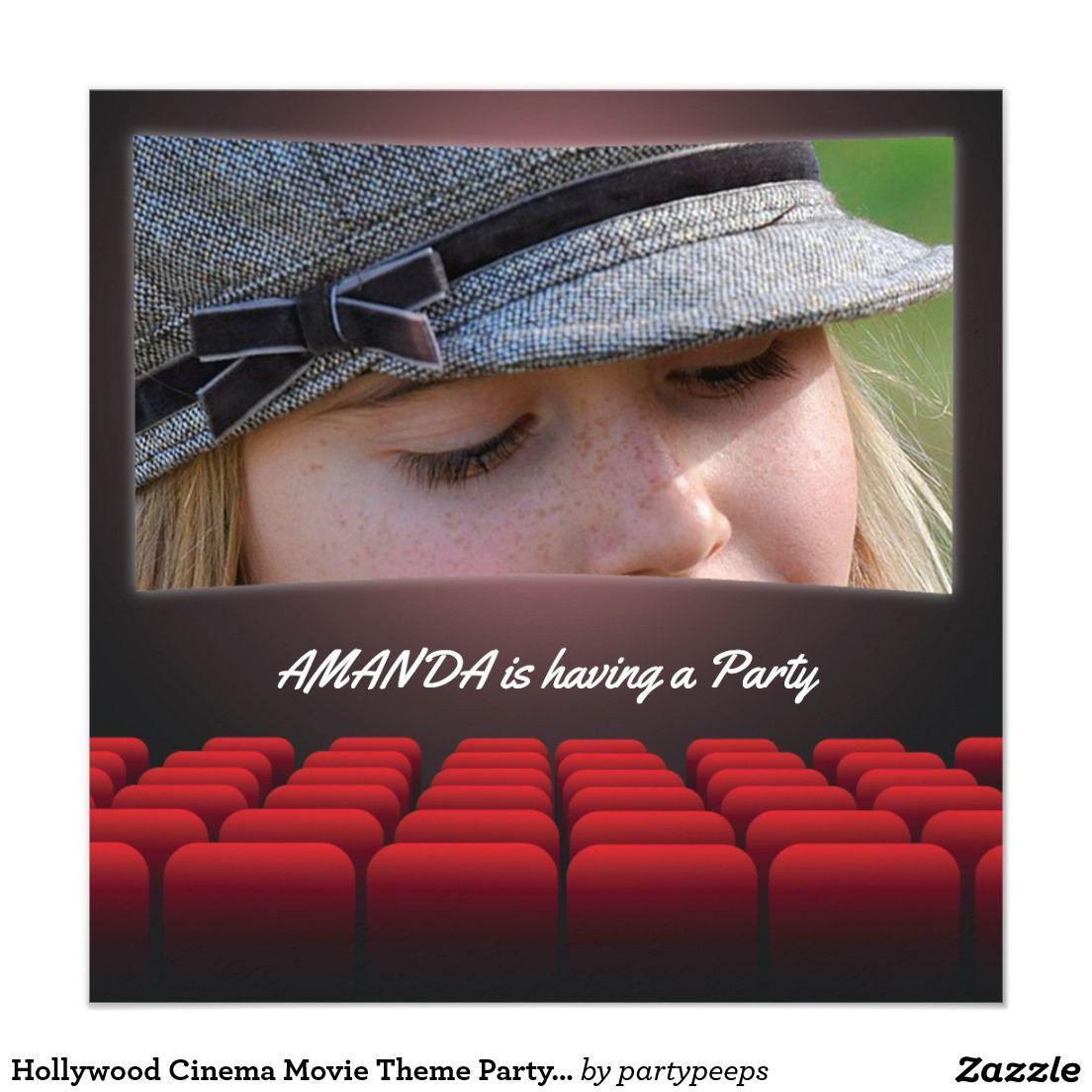 Hollywood Cinema Movie Theme Party Invitation   Teens 13-17 ...