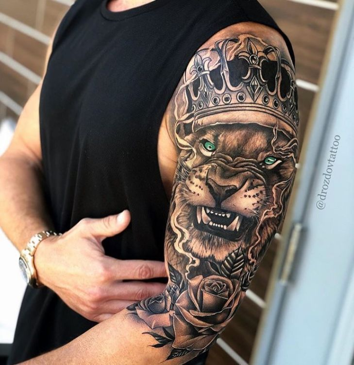 Rate This Angry Lion King Tattoo 1 to 100 -  Rate This Angry Lion King Tattoo 1 to 100 – – #Angry #King #lion #Rate #Tattoo  - #angry #compasstattoo #flowertattoo #King #Lion #liontattoo #Rate #tattoo #tattoogirlmodels