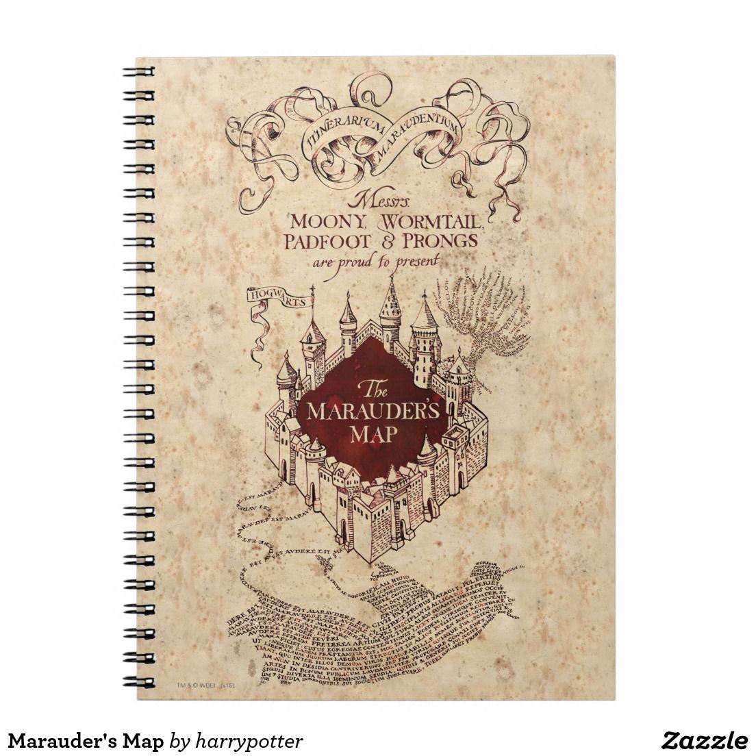 Harry Potter Spell Marauder's Map Notebook