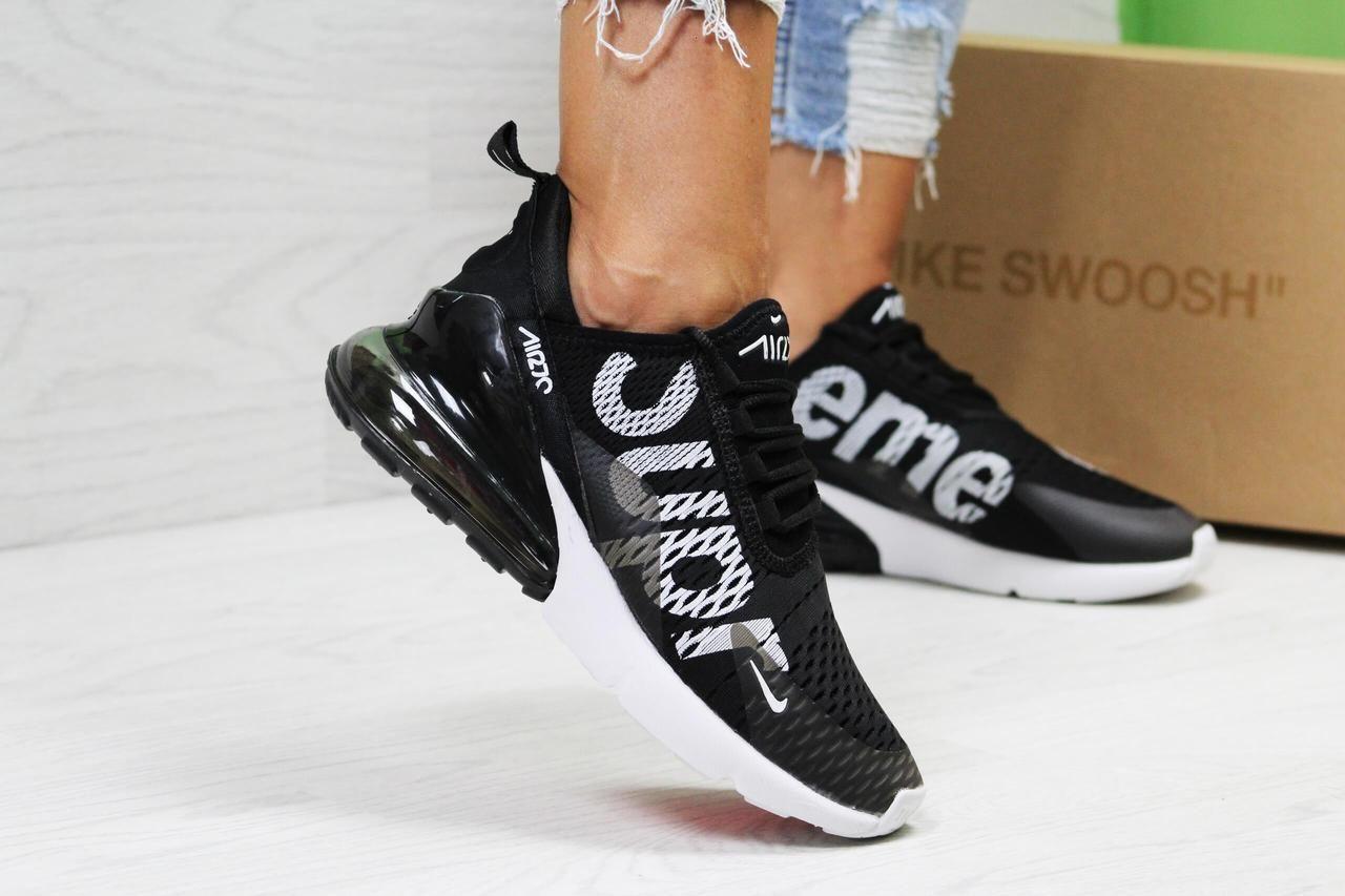 Nike Air Max 270 x LV x Supreme black white купить кроссовки