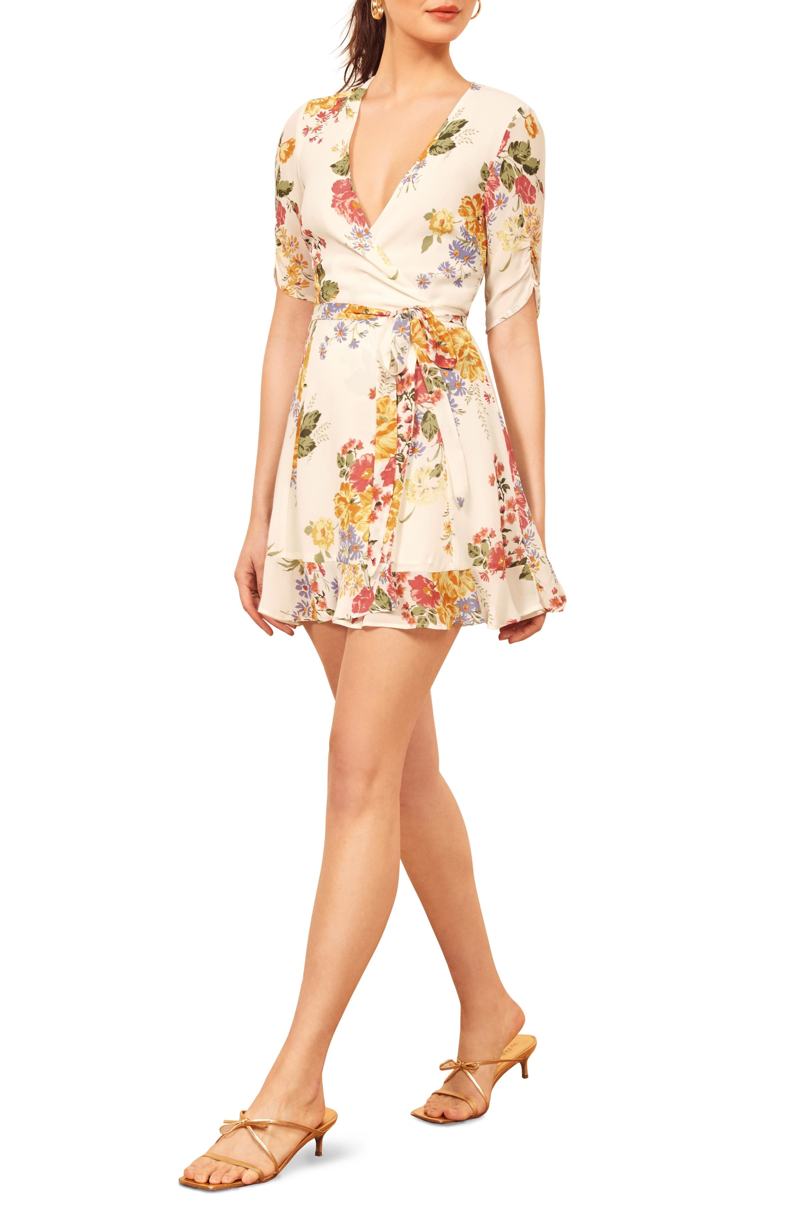 Reformation Monica Wrap Dress Nordstrom Short Dresses Casual Nordstrom Dresses Wrap Dress [ 4048 x 2640 Pixel ]