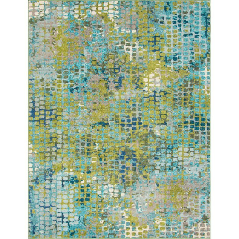 Piotrowski Abstract Blue Green Area Rug With Images Unique