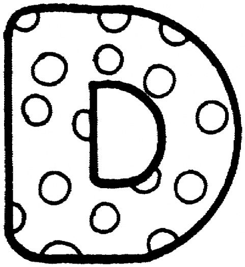 letter d with polka dot coloring page from english alphabet with polka dot pattern category select from 25105 printable crafts of cartoons nature