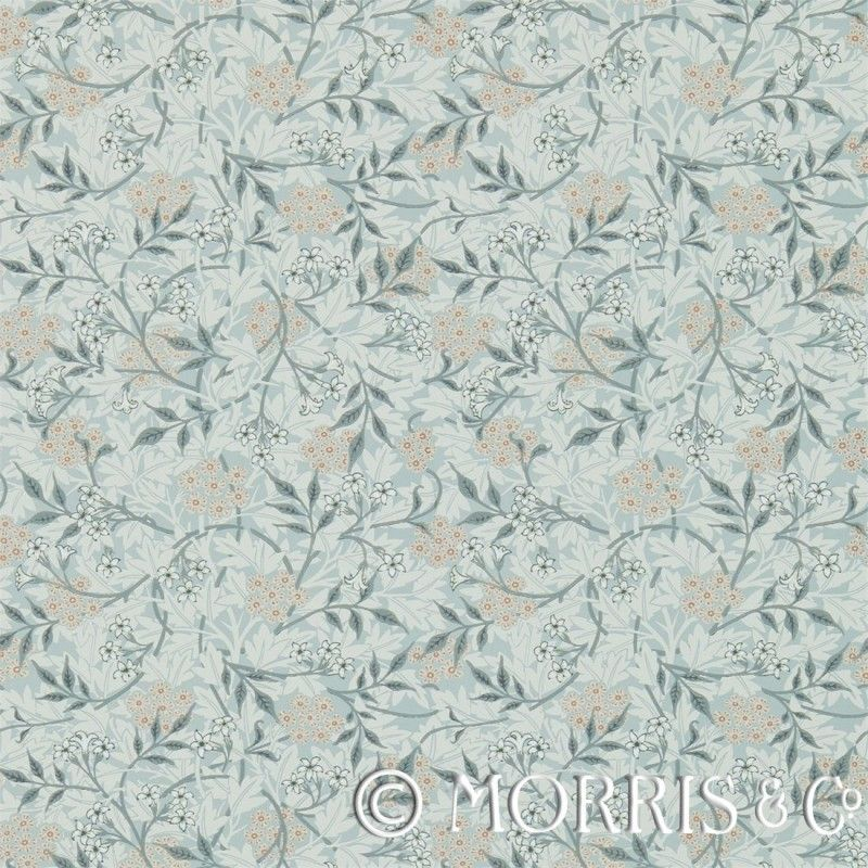 Morris & Co Tapet Jasmine Silver/Charcoal