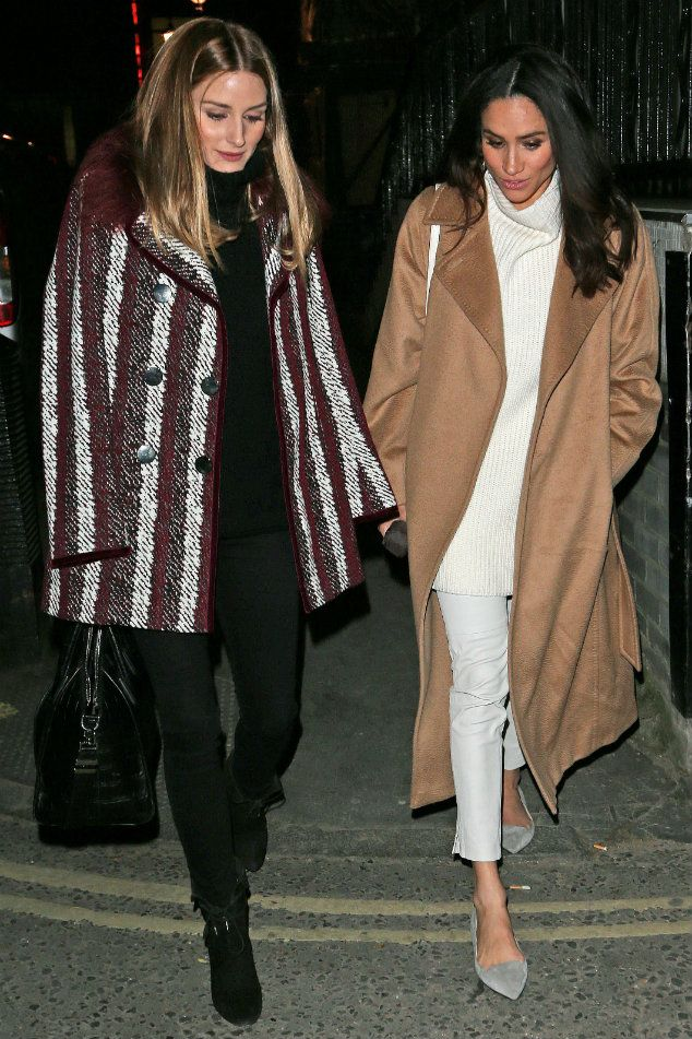 Olivia palermo with meghan markle out in london january for Salle a manger but olivia
