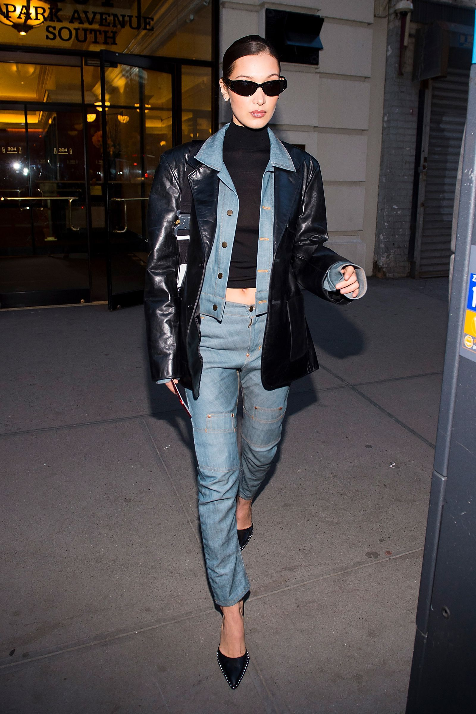 Bella Hadid S Hottest Looks Of All Time Denim Street Style Bella Hadid Street Style Bella Hadid Outfits [ 2400 x 1600 Pixel ]