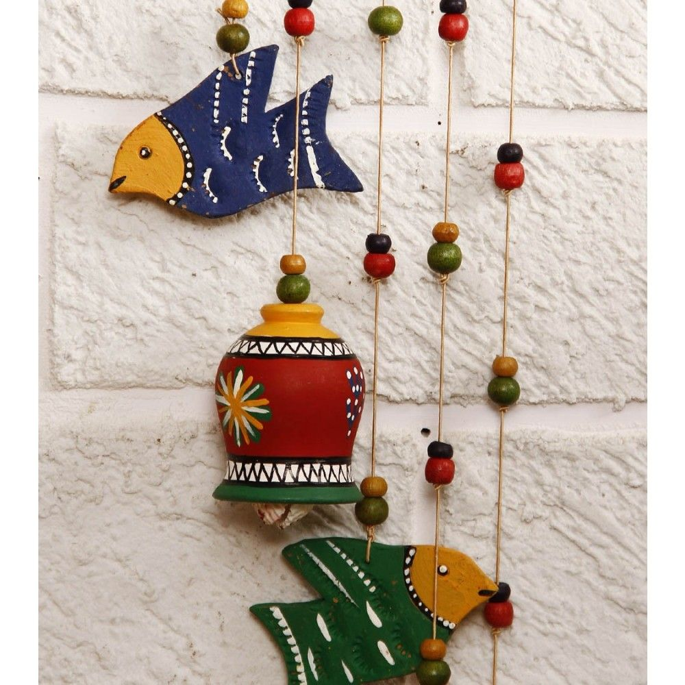 Buy Decorative Masks Online India Buy Unravel India Terracotta Bells N Birds Wind Chime Online In