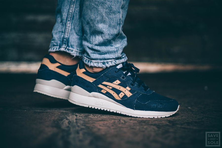 save off 8162d 77d49 Asics Gel-Lyte III - Indigo Blue / Tan | Sneaker | Save Our ...