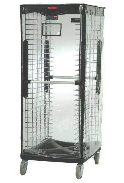 Protection cover for scale serving trays: Protective vinyl rack cover ProServe for food transport