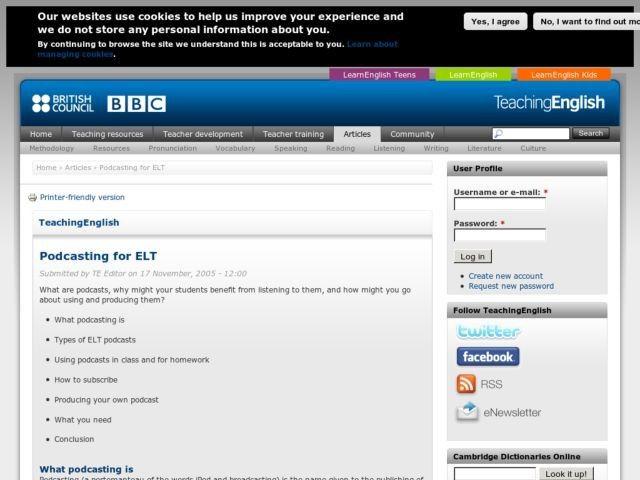 Podcasting for ELT | TeachingEnglish | British Council ...