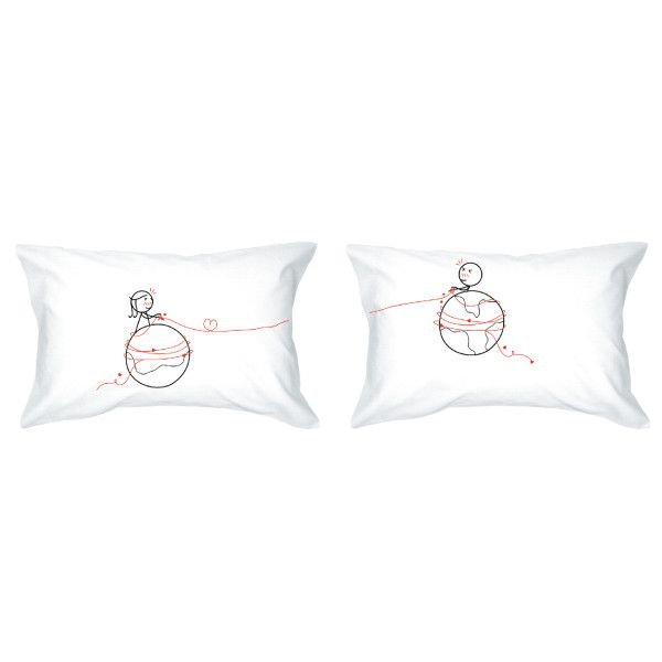 mars and venus couple pillowcases set of 2  couple