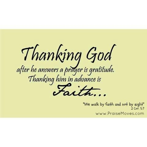 Image result for be thankful in advance