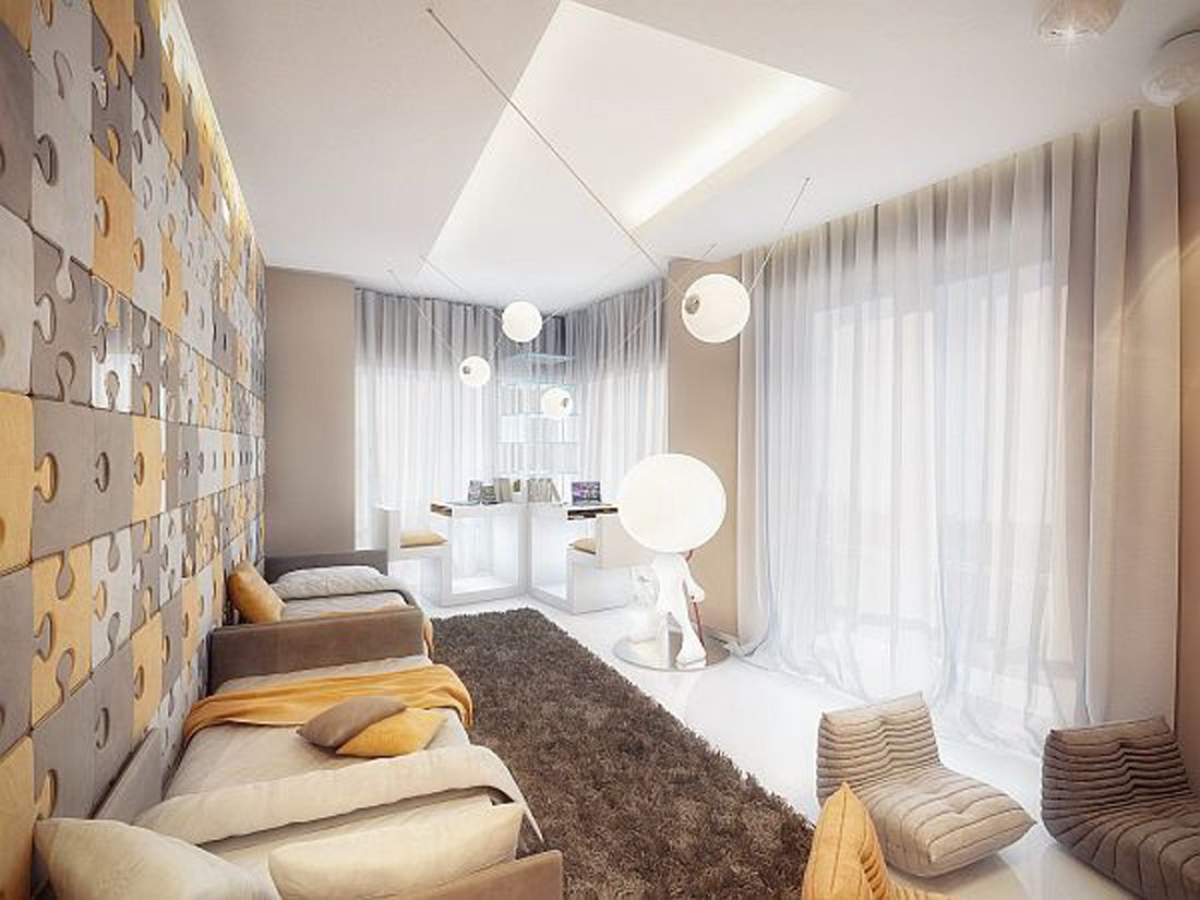 Comfortable Modern Apartment Interior In Beige And Brown | Interiors ...