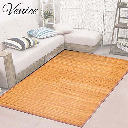 Venice Natural Bamboo 5 X 8 Floor Mat Area Rug Indoor Outdoor
