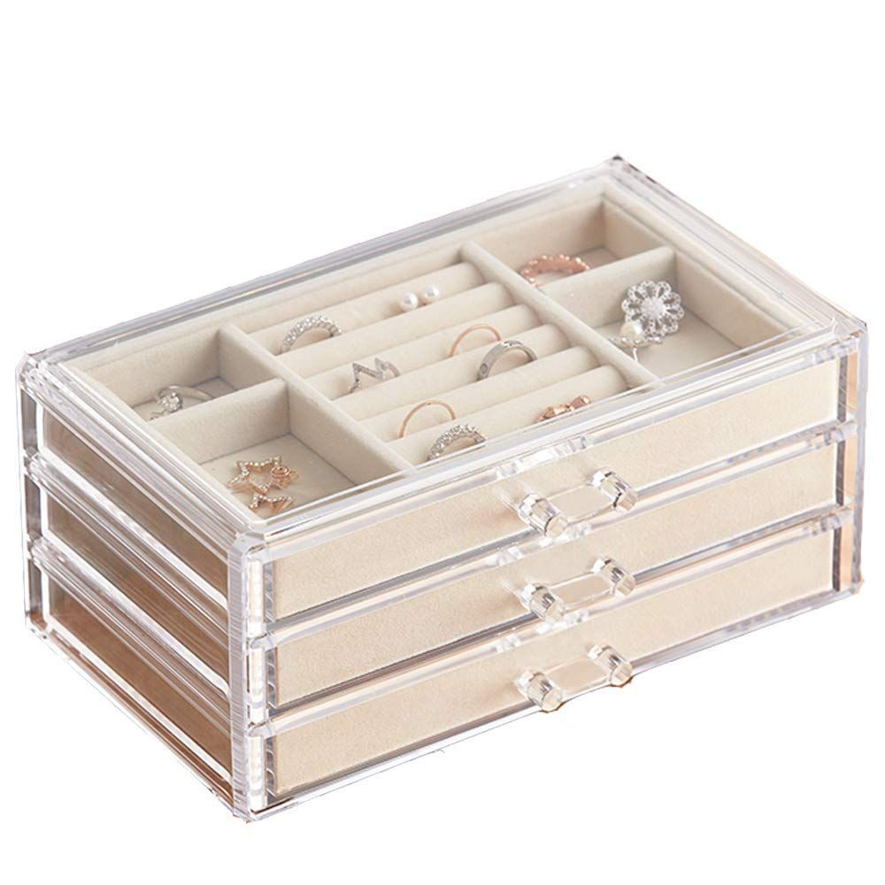 Herfav Jewelry Box For Women Wit Jewelry Organization Jewelry Organizer Box Large Jewelry Box