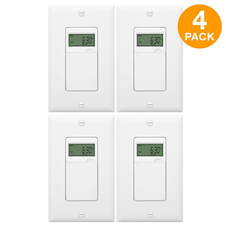 Enerlites Het01 C 7 Day Programmable Timer Switch Timer Light Switch Digital Timer Light Switch Programmab Digital Timer Plates On Wall Ceiling Fan Bathroom