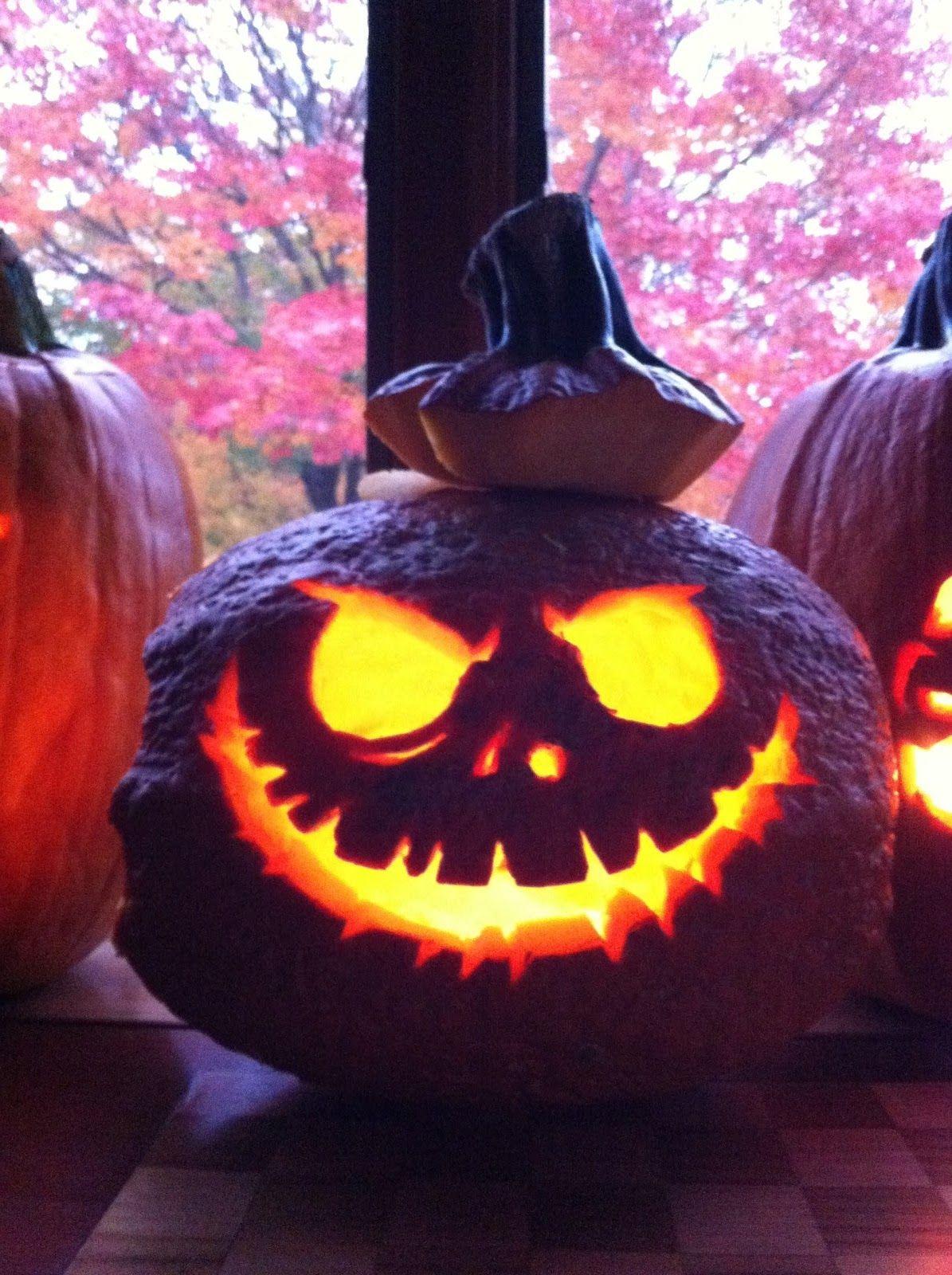 Spooky Jack Skellington Pumpkin Template Pumpkin