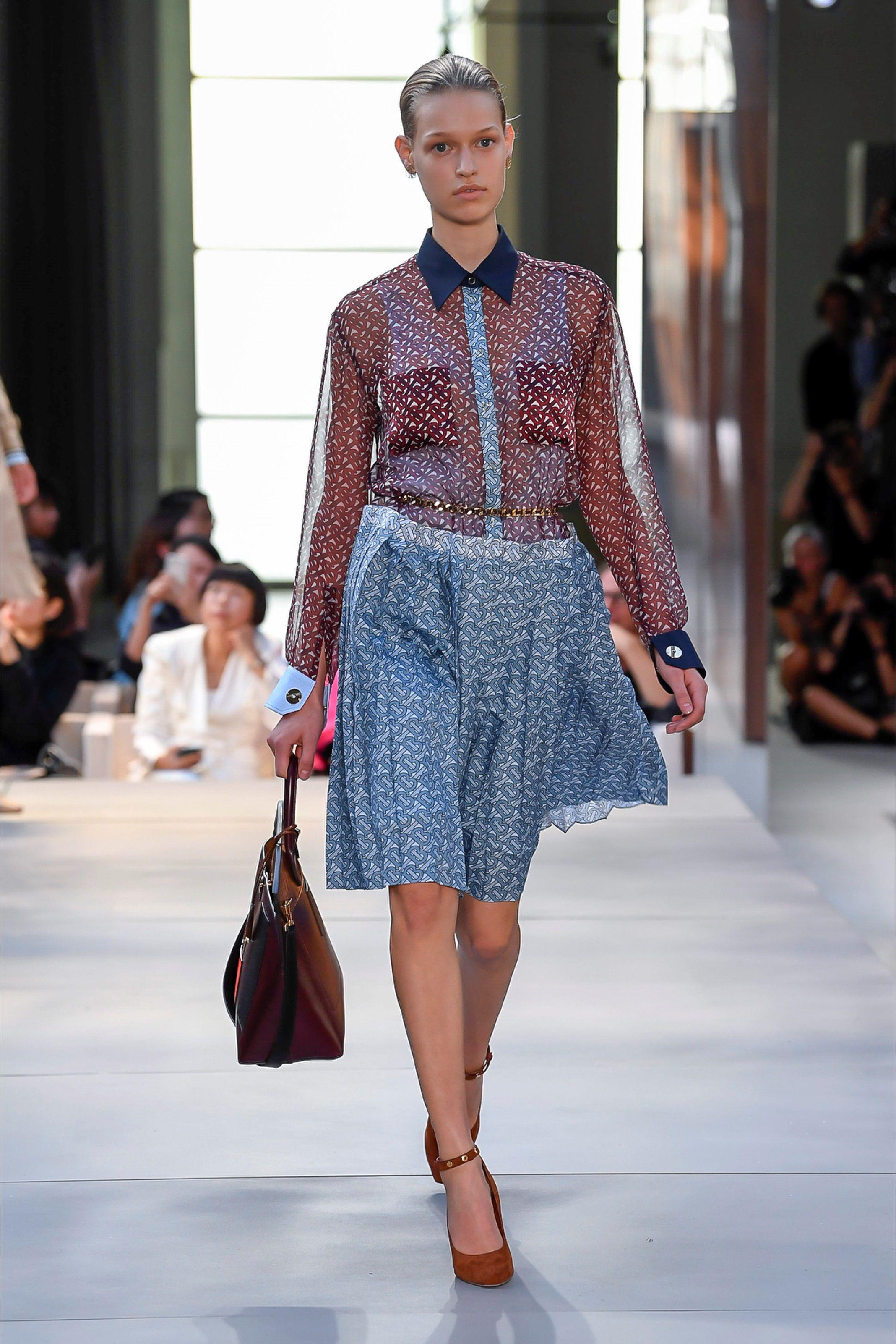 26c8bd8dd6 2019 Collezioni Primavera Burberry Vogue Sfilata Estate Londra EDW2IH9