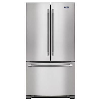 Maytag 20-cu ft Counter-Depth French Door Refrigerator Single Ice Maker (Fingerprint Resistant Stainless Steel) ENERGY STAR
