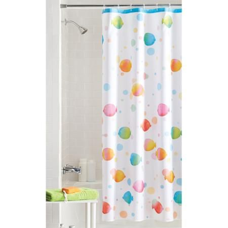 Mainstays Rainbow Fish Shower Curtain