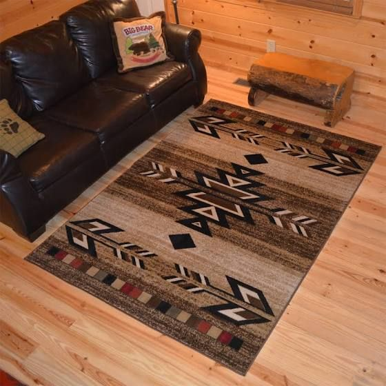 Western Themed Area Rugs Rustic Lodge Western Home Decor Rustic Rugs