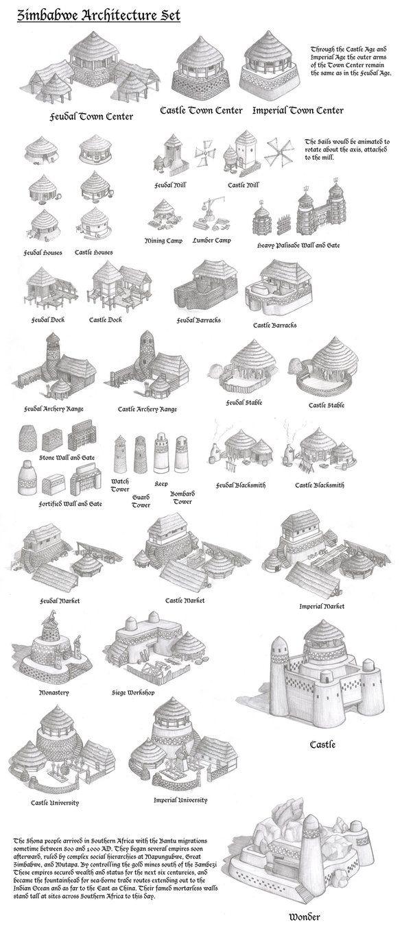 Zimbabwe Architecture Set By Kondrikthus On Deviantart Architecture Set Ancient Architecture Vernacular Architecture
